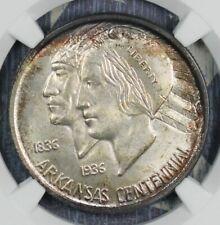 1935 ARKANSAS SILVER COMMEMORATIVE HALF DOLLAR COIN NGC CAC MS 64