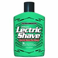NEW Williams Lectric Shave,Electric Razor Pre-Shave for Men,Green Tea 7Ounce-USA