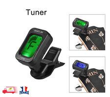 Accordeur à pince Numérique LCD Chromatique pour Guitare Bass Violon Ukulélé