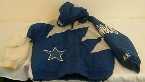 Vintage 1990s Logo Athletic Pro Line Jacket Coat DALLAS COWBOYS NFL Sharktooth L