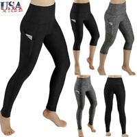Women Workout Out Pocket Leggings Fitness Sports Gym Running Yoga Athletic Pants
