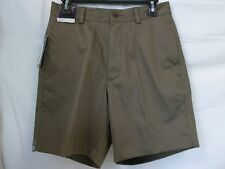 Roundtree & Yorke Size 30 Brown Stone Flat Front Classic Fit New Mens Shorts