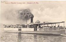 Scene At Conesus Lake People Aboard Steamer J A Ritz Ship NY PM1908 Postcard