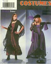 Sewing PATTERN Misses' Gothic Punk Gown Shawl Snood Beret Costume 16-20