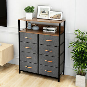 Chest Of Drawers Unit Storage Cabinet 8 Drawers Storage Cabinet Metal Frame Home