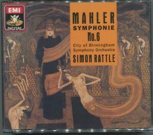 2CD Simon Rattle: Mahler Symphonie No.6 (EMI) 1990