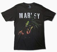 Bob Marley Singing Black T Shirt New Official Adult Reggae Band Music Zion