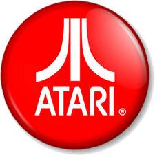 """ATARI LOGO 25mm 1"""" Pin Button Badge Video Game Computer Retro Gamer Geek Vintage"""