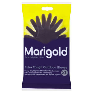 Marigold Extra Tough Latex Outdoor Gardening Rubber Cleaning Gloves - XL