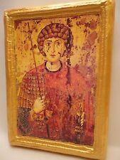 Saint George San Giorgio Christian Catholic & Eastern Orthodox Icon on Wood