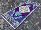 Bohemian rug, Vintage rug, Small, Handmade, Decor rug, Bedroom   1,4 x 3,5 ft
