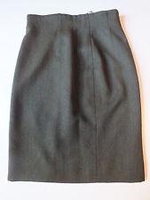 Heather green tweed wool skirt by Celine Paris size 42 UK 14