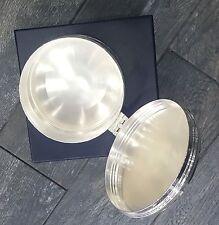 Ralph Lauren Aubrey Round Box Silver Retail $225+TAX 100% Authentic ENGRAVED JLJ