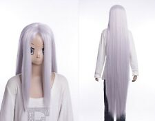 W-530 final Fantasy FF 7 vii sephiroth argent silver 130cm cosplay perruque wig