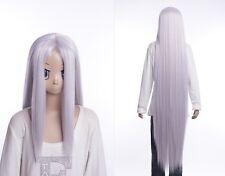 W-530 Final Fantasy FF 7 VII Sephiroth silber silver 130cm COSPLAY Perücke WIG