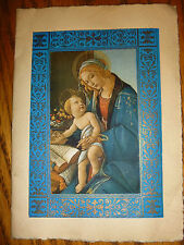 vintage Madonna Jesus baby Christmas Card Florence Italy reproduction art nice