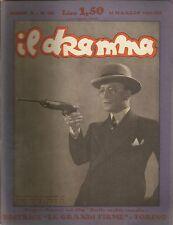 Il dramma 186 1934 Jacques Natanson - Michel cover Ruggero Ruggeri