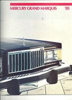 "1985 MERCURY GRAND MARQUIS SHOWROOM BROCHURE ""NOS"""