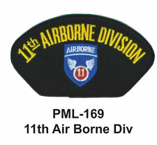 11TH AIR BORNE DIV -Embroidered Military Large Patch, 4""