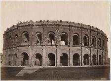Photo Albuminé Les Arènes de Nimes Gard France Vers 1880