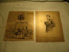 Harper'S Weekly pages 4/29 1865 John Wilkes Booth &12/17/1859 John Brown Hanging