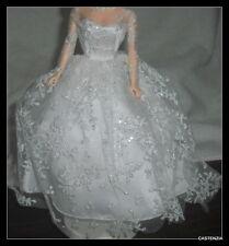 DRESS MATTEL BARBIE DOLL VINTAGE REPRODUCTION WEDDING DAY WHITE LACE BRIDE GOWN