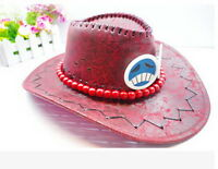 One piece Portgas D Ace Cosplay Hat Cap Costume Cowboy New Free Shipping LS20#