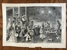 Fireworks In The Country. Wood Engraving, 1869.