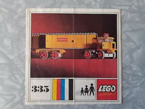 1960s 1970s Vintage Lego Instructions - 335 Truck Lorry