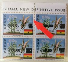 New listing Ghana 1988 Surcharge Last Zero On top Stamp Albino M.N.H