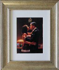 Un FOND KISS Da Jack Vettriano incorniciato & montato Art Print PICTURE GOLD