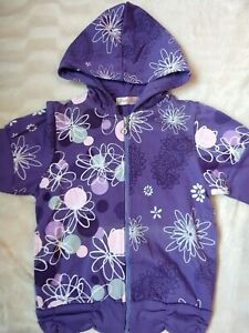 Lovely Girls Purple Floral Print Hoodie Age 10 years Height 134-140 cm
