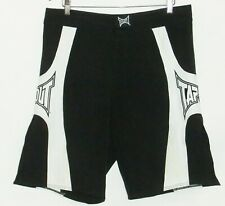 "TAPOUT ""Atomic"" Black/White Workout Shorts Size 34"