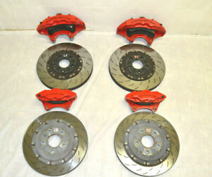 2014-2019 Chevrolet Corvette C7 Z06 Red Brembo OEM Brake Caliper & Rotor Set