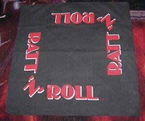 Vintage 1984 RATT N ROLL Bandana Scarf Headband Tapestry Banner Stephen Pearcy