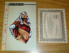Alan Moore's Awesome Adventures #1 VF/NM dynamic forces variant COA (1421/4000)