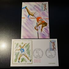 Andorra French N°205 Running Card Maximum + Letter Premier Day FDC 1970