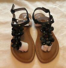 Sonoma Goods For Life Girl's Black Sandals Size:1-New