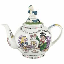 New boxed Cardew Alice in Wonderland 6 Cup Teapot Alice lid