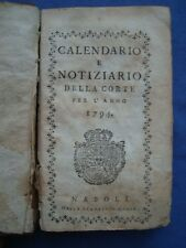 BORBONICA-CALENDARIO E NOTIZIARIO DELLA CORTE PER L' ANNO 1795 -FERDINANDO IV