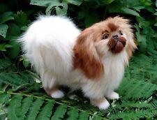 simulation pekingese dog hard model,polyethylene&fur dog doll 20x17cm