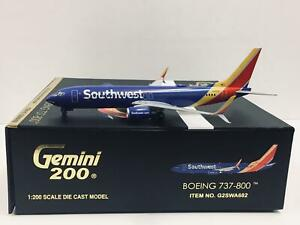 Gemini Jets 1:200 Southwest Airlines BOEING 737-800 N8563AW G2SWA682 159.35