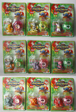 9X RARE VINTAGE DIGIMON MINI FIGURES KEY CHAINS KO AGUMON GREYMON NEW SEALED !