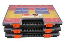 3x Sortierkasten sortimentskasten sortierbox kästen NORP16 mit 21 bunten Fächern