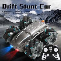 RC Cars 2.4G 4WD Remote Control Car Stunt 360° Rotating Sideways Drifting Truck