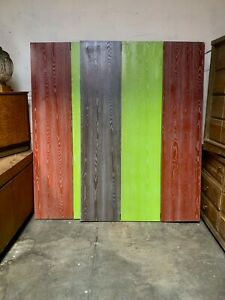 Pair 3-Panel Double-Sided Decorative Functional Painted Screen Room Dividers