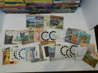 Huge Vintage lot of 8 View Masters Viewers + Over 40 Mixed Reels GAF Sawyers