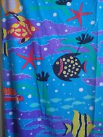 Springs Sheet Set The Reef Twin Bed Vibrant Colorful Tropical Fish Vintage