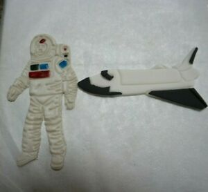 Astronaut / Spaceman and Space Shuttle fondant cake topper handmade