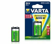 3x Akku VARTA 9V E BLOCK Batterie 9V Accu R2Use 200mAh 56722 aufladbar